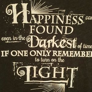 tops harry potter dumbledore quote small grey